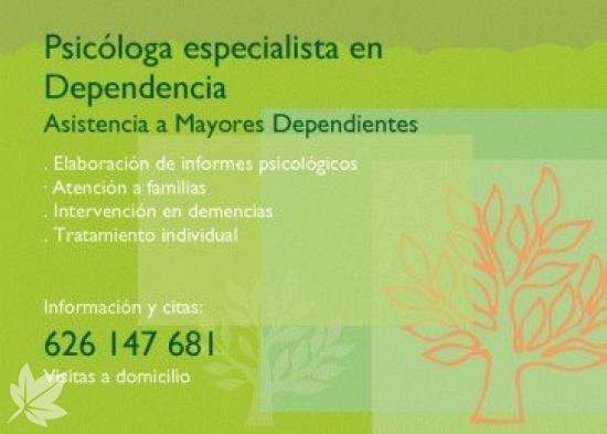 Psicóloga para Mayores - Col nº CV08129