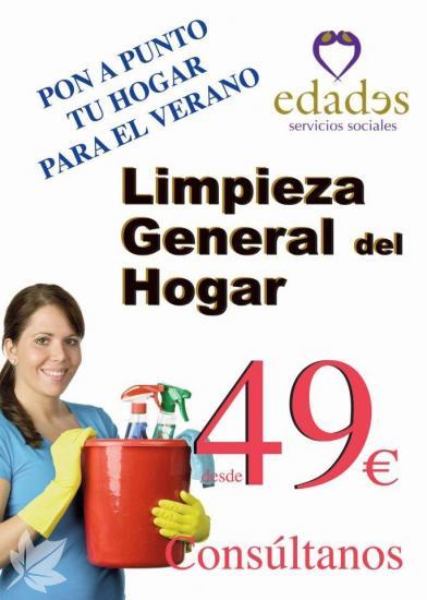 Limpieza General del hogar desde 49€