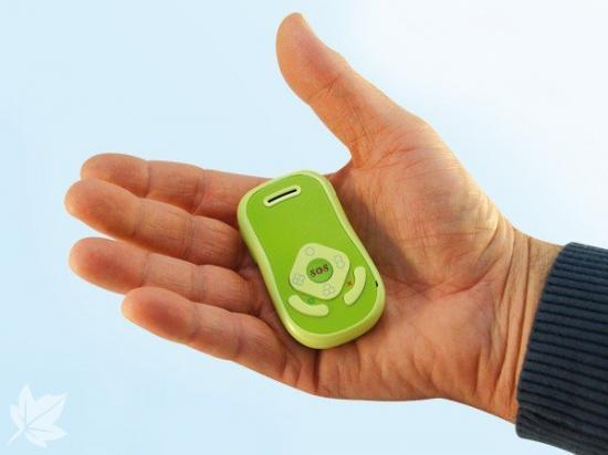 Teléfono localizador GPS con pulsador SOS