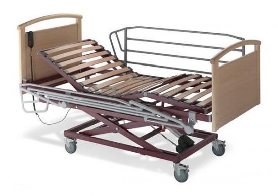 Alquiler de cama articulada con carro elevador